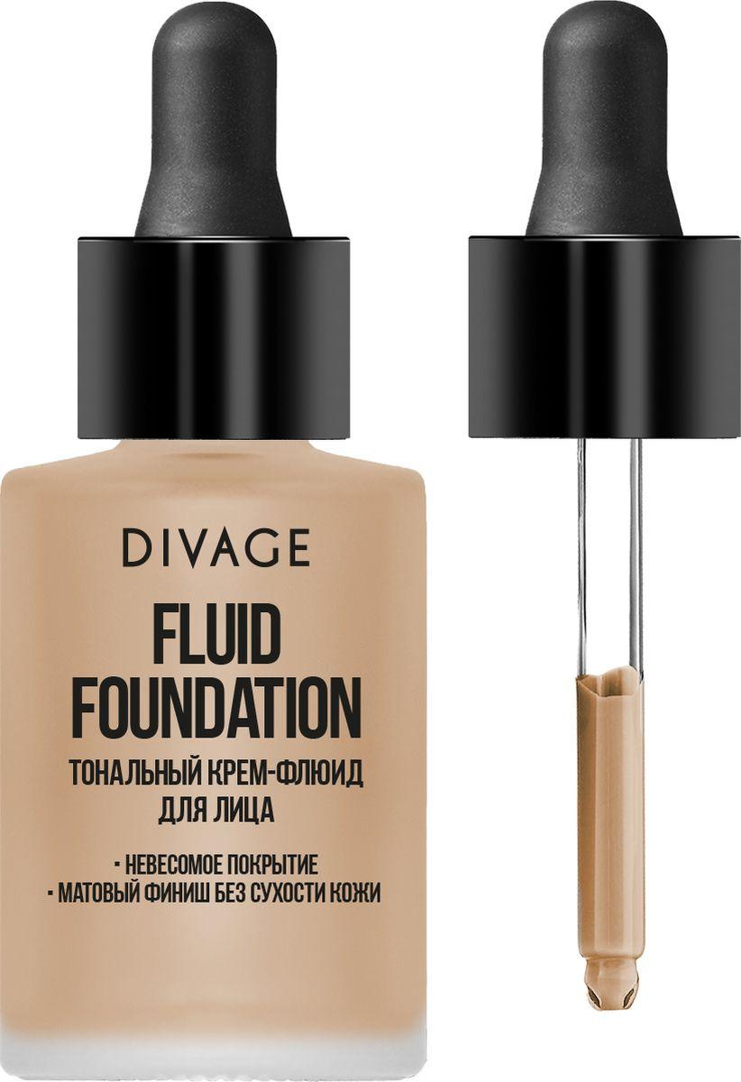 Тональный крем Divage Fluid Foundation, тон 03, бежевый, 28 мл divage тональный крем foundation luminous тон 01 25 мл