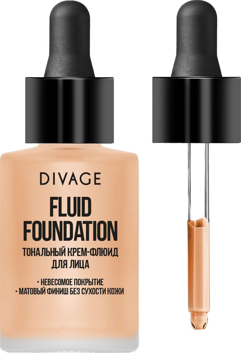 Тональный крем Divage Fluid Foundation, тон 02, светло-бежевый, 28 мл divage тональный крем foundation luminous тон 01 25 мл