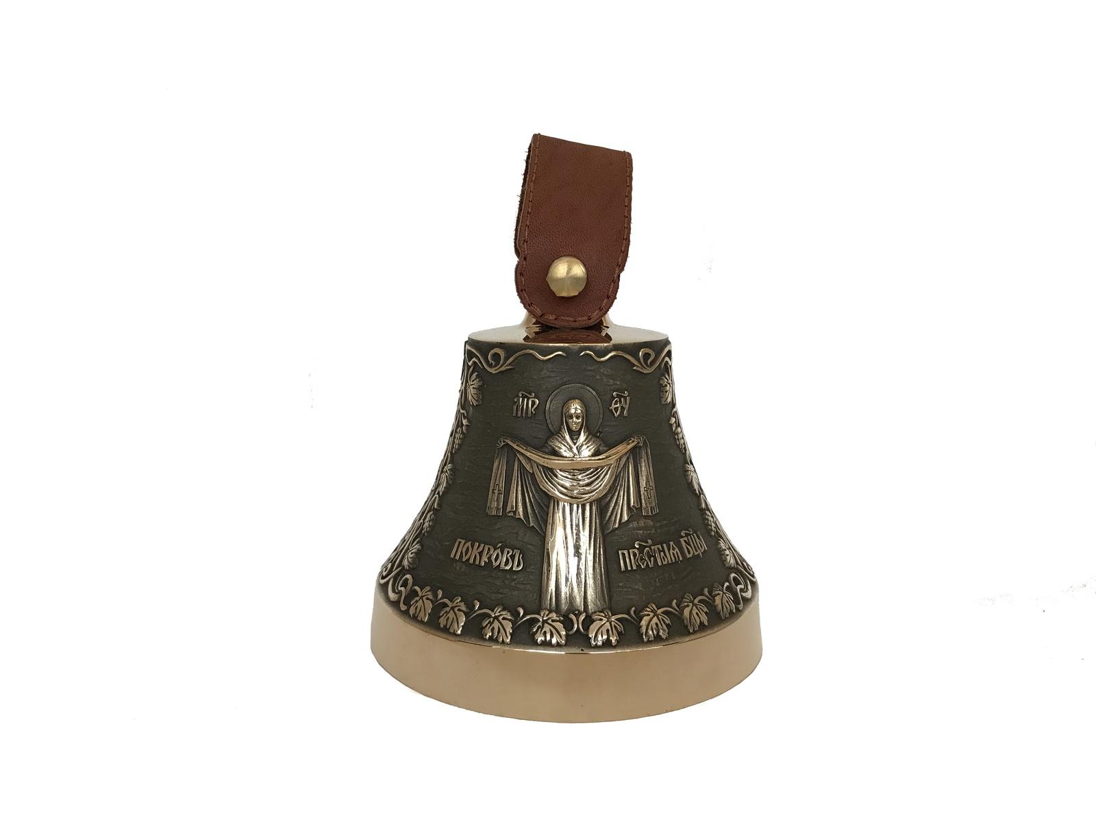Колокольчик Колокол Покров Пресвятой Богородицы, бронза икона покрова пресвятой богородицы фото