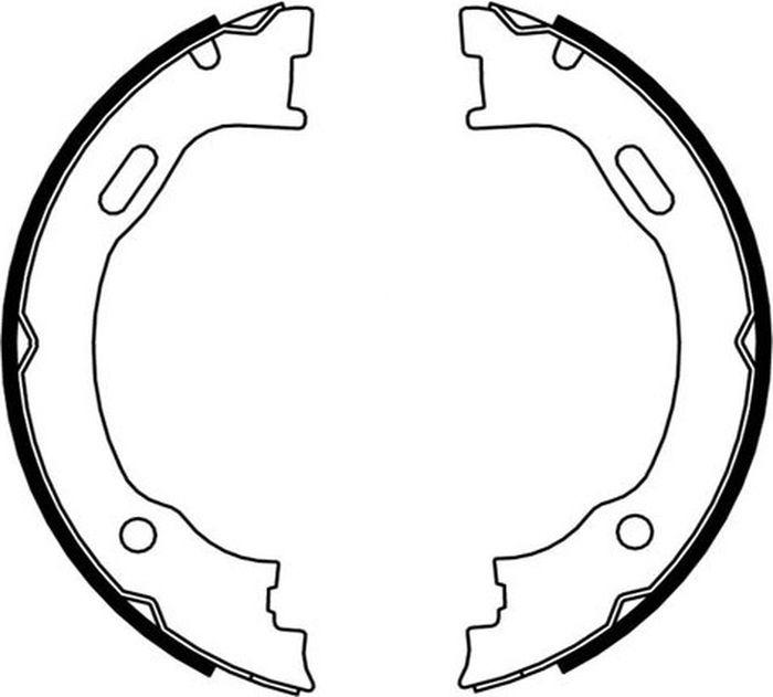 Тормозные колодки барабанные ABS 9142 барабанные колодки abs 206 09 13 9124