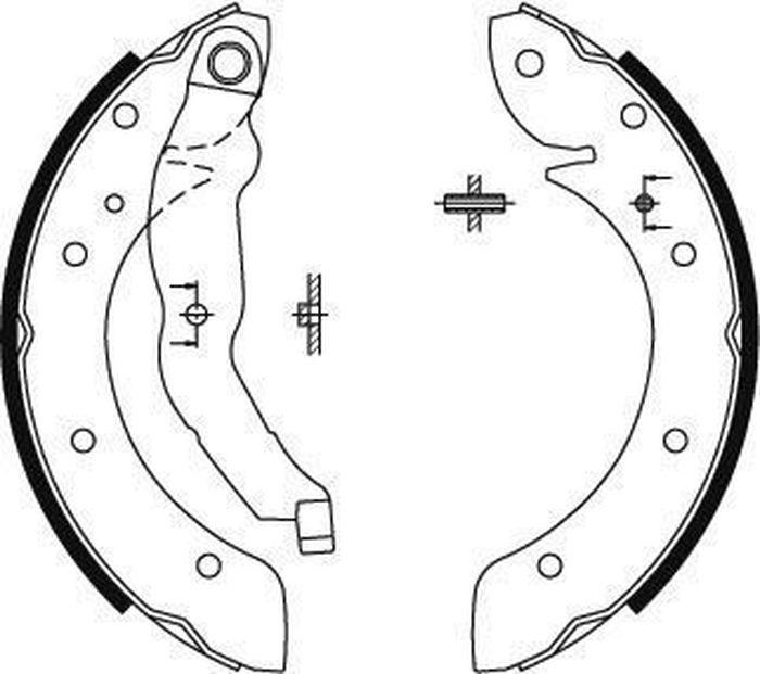 Барабанные колодки ABS Megane/Scenic/Laguna/Espace/3 Series (E36)/405 (90-03), 8894 воздухозаборник powertec turbo gt1749v 708639 708639 5010 8200110519 renault megane ii ii scenic ii espace 1 9 dci f9q
