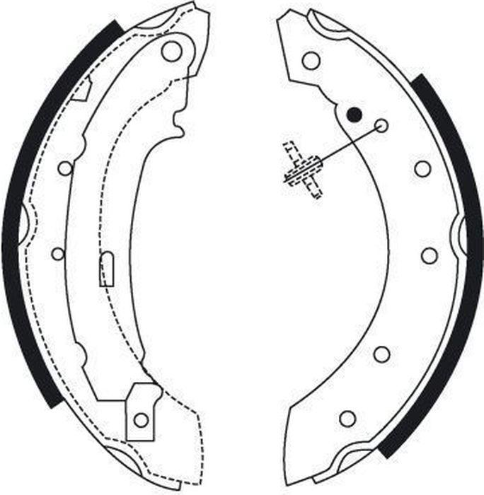Барабанные колодки ABS Sandero/Logan/Symbol/Thalia/Clio/Twingo/Laguna/Logan/Sandero/206/106/306/Xsara, 8895 renault thalia ii 2008