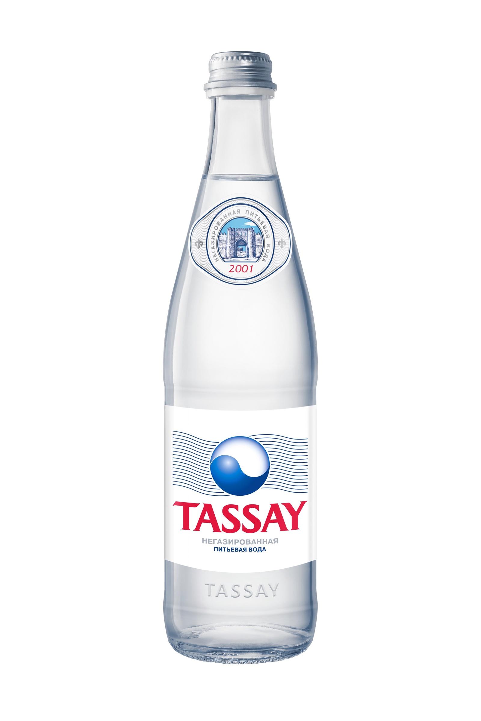 Вода TASSAY природная питьевая, 0.5л, стекло, негазированная