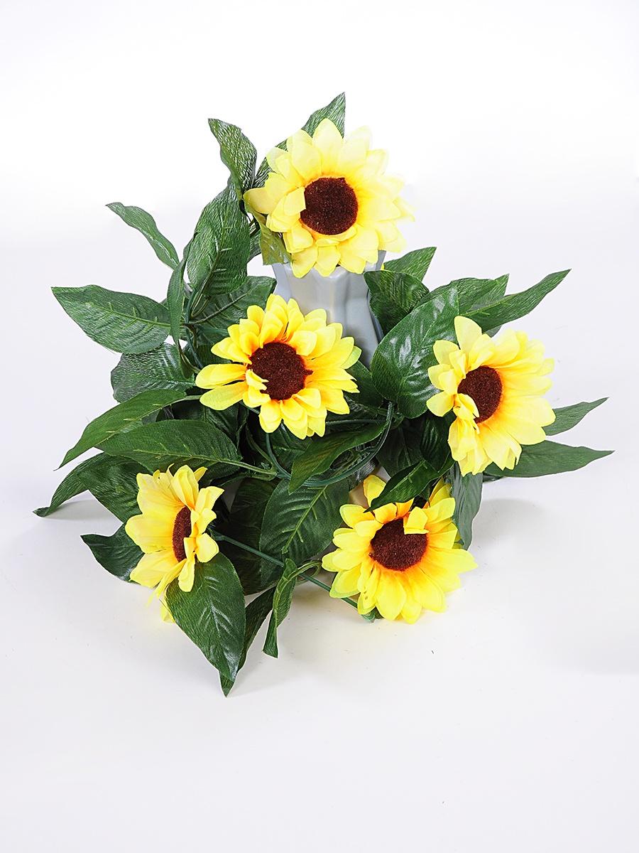 Искусственные цветы KVI Композиция, желтый искусственные растения valiant муляж лук с перцем в связке желтый 60см шт