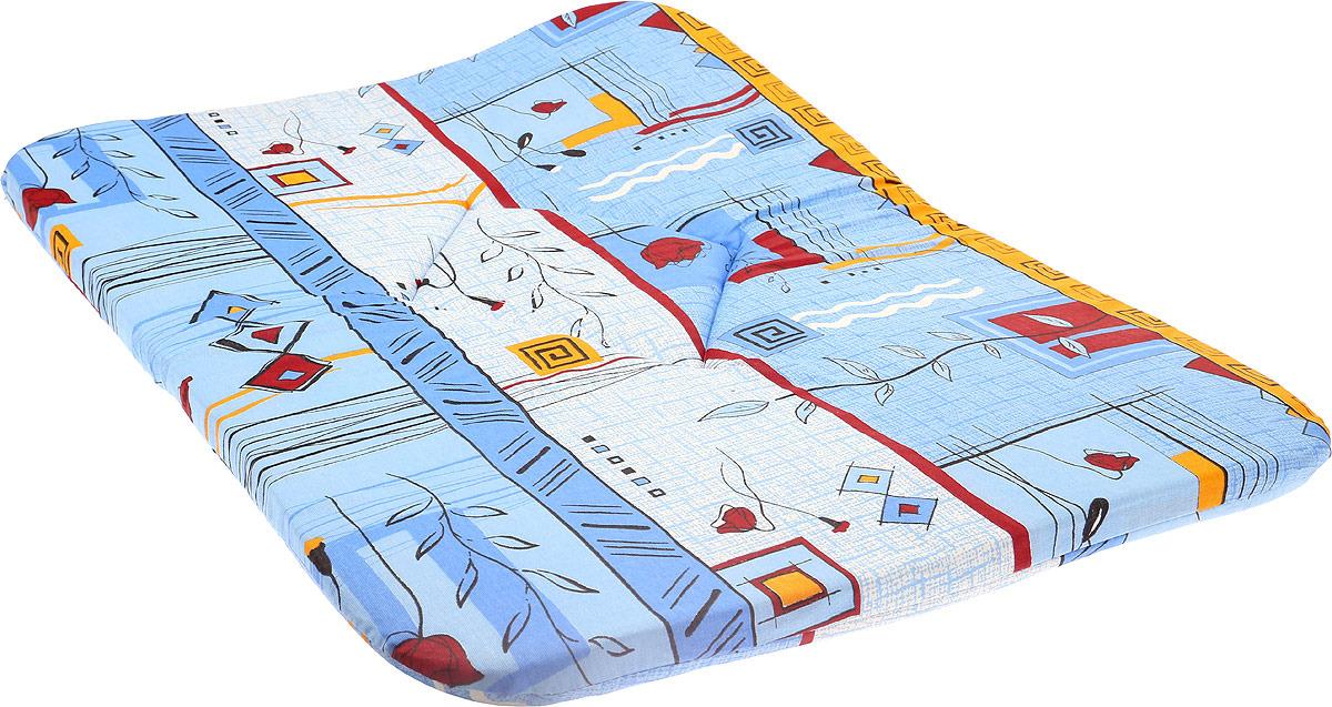 Лежак для животных ЗооМарк Подстилка №6 Клетка, П-06КС, синий, 57 х 80 х 3,5 см лежак для животных зоомарк самобранка цвет синий 74 х 55 х 10 см