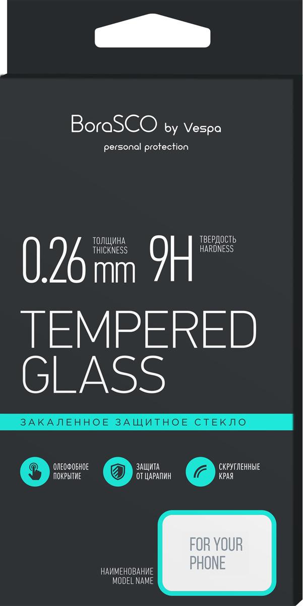 Защитное стекло BoraSco by Vespa Full Cover+Full Glue для Honor 7A/ Huawei Y5 Prime (2018)/ Y5 Lite (2018), белый защитное стекло caseguru для huawei honor 7a y5 prime 2018 glue full screen black
