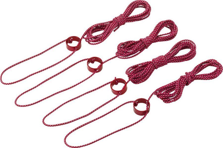 Веревка-натяжитель MSR Tent Guylines, Large, 05884, красный, белый