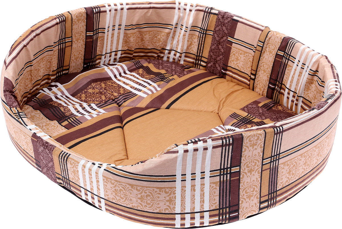 Лежак для животных ЗооМарк №7 Клетка, Л-07КС, синий, 57 х 57 х 15 см лежак для животных зоомарк самобранка цвет синий 74 х 55 х 10 см