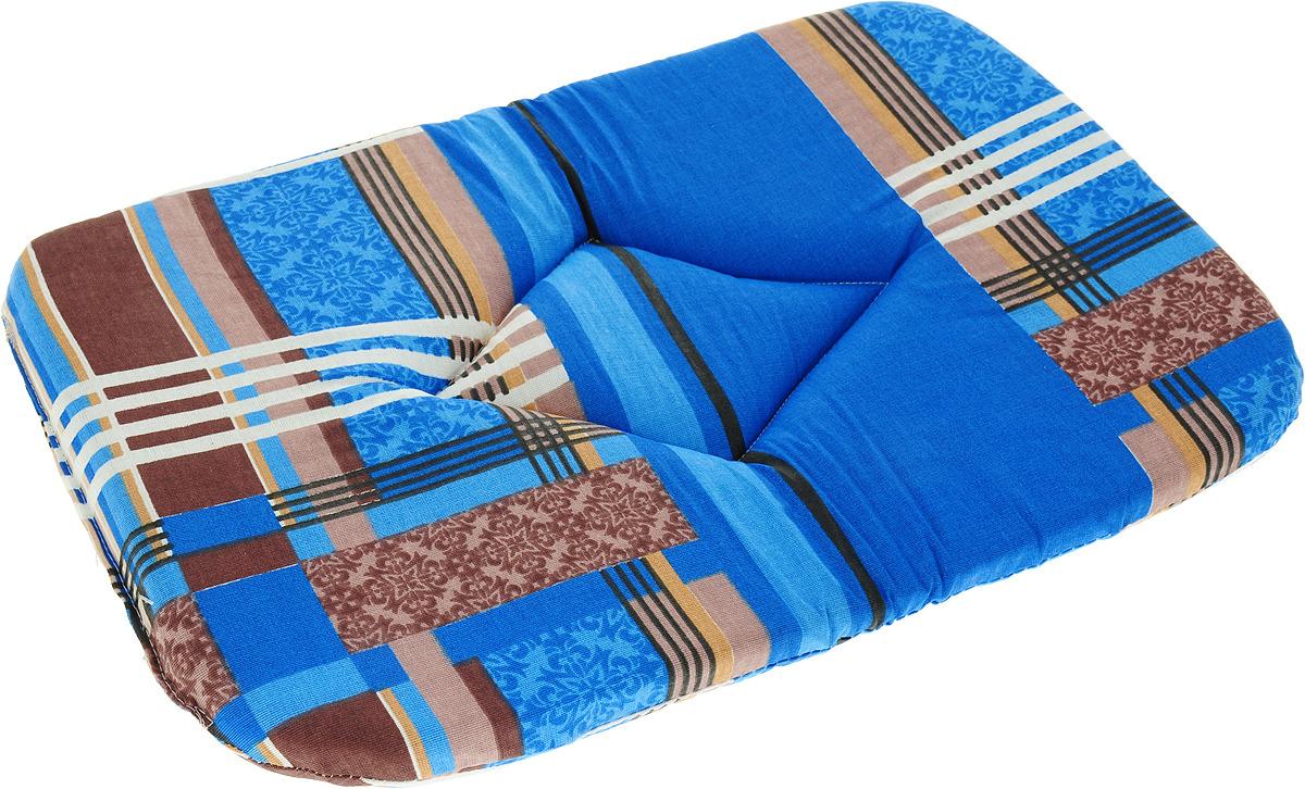 Лежак для животных ЗооМарк Подстилка №2 Стамбул, П-02СС, синий, 32 х 45 х 3,5 см лежак для животных зоомарк самобранка цвет синий 74 х 55 х 10 см