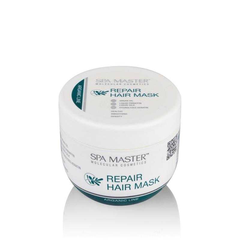 Маска для волос SPA MASTER molecular cosmetiсs Восстанавливающая с silPLEX®, аргановым маслом, жидким кератином и шёлком521338Маска для волос, кожи головы и тела. Восстанавливает структуру поврежденных волос. Предотвращает ломкость и появление секущихся концов. Значительно увеличивает прочность структурных связей и их эластичность. Делает волосы плотными, блестящими и шелковистыми. Увлажняет и регенерирует кожу, стимулирует рост волос