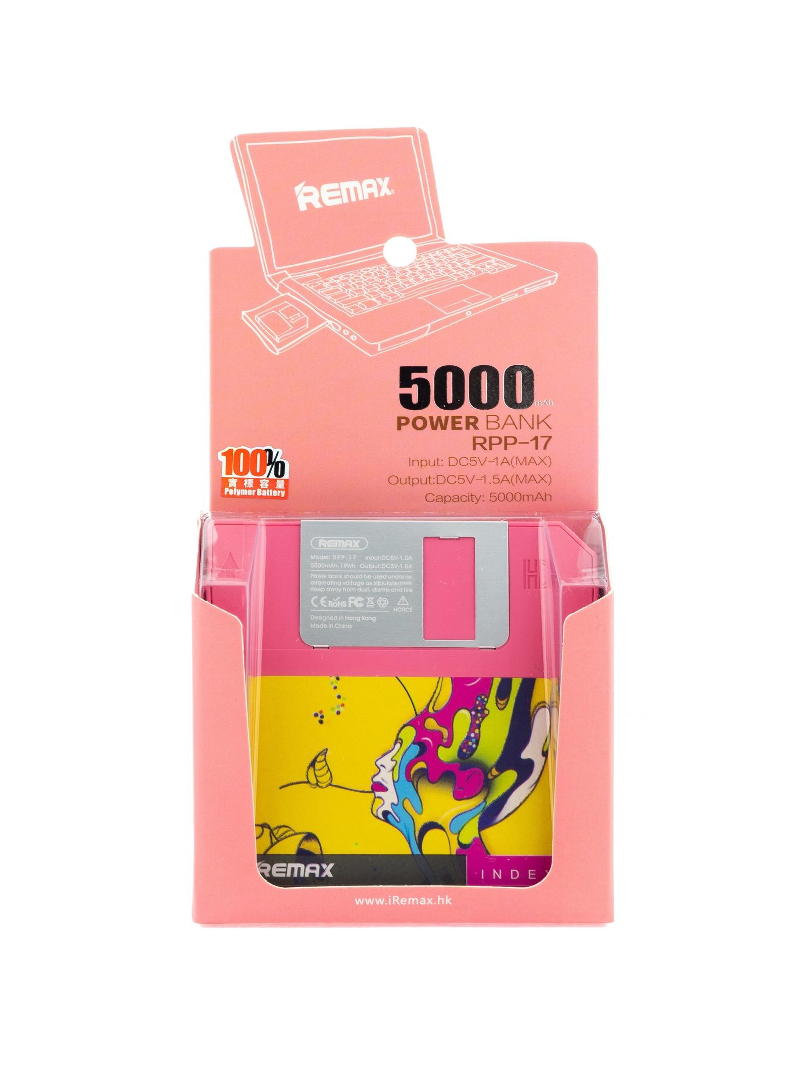 Внешний аккумулятор Remax 4627161063307, розовый REMAX