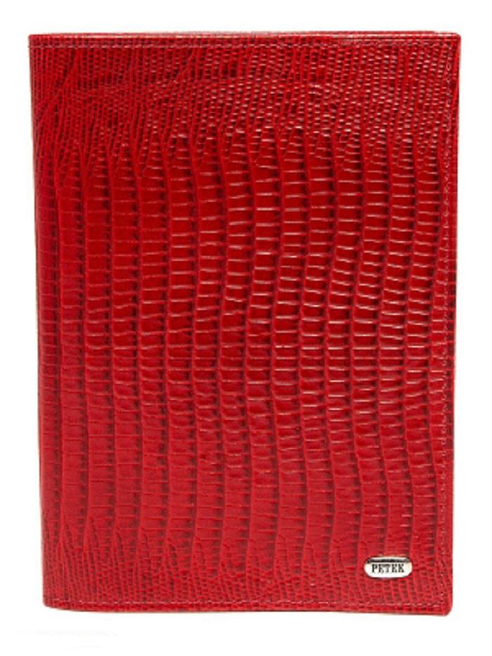 Фото - Обложка для паспорта Petek 581, красный брелоки petek 1514 tb tl2