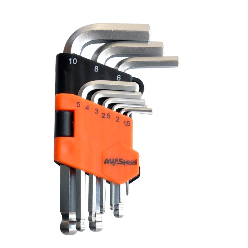 Набор ключей AV Steel AV-364109 набор г образных шестигранных ключей force 7 предметов 5072