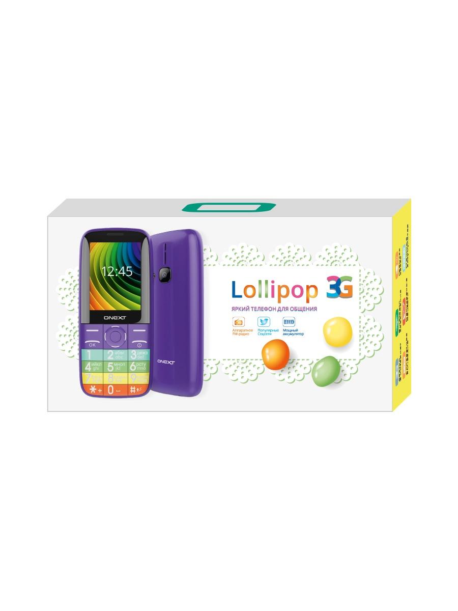 Телефон ONEXT Lollipop 3G, фиолетовый