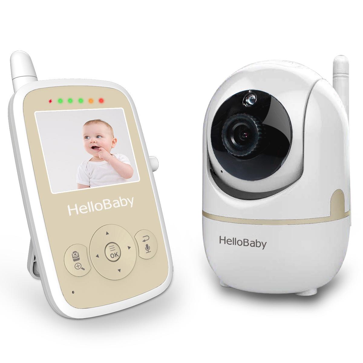 Видеоняня Hello Baby HB248 серебристый