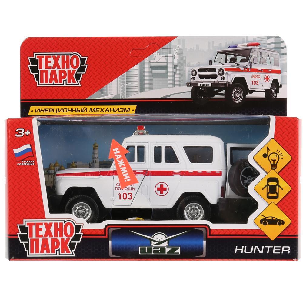 Машинка-игрушка Технопарк HUNTER-AMB-SL технопарк машинка инерционная уаз hunter скорая помощь