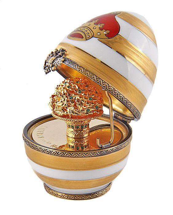 Яйцо с сюрпризом Корона. Металл, хрусталь позолота. Франция, Фаберже, Лимож, конец ХХ века