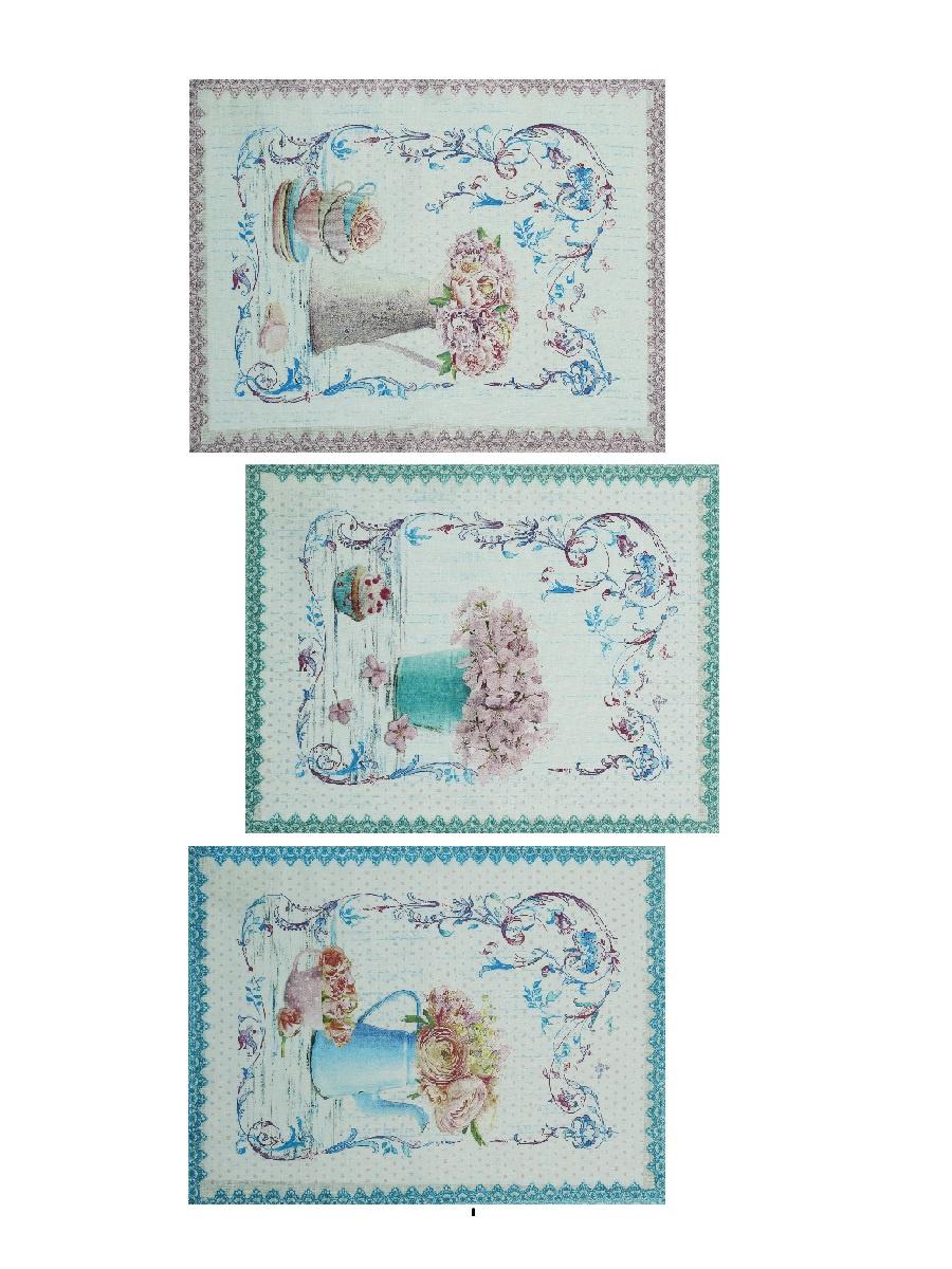 Фото - Набор кухонных полотенец Романтика, светло-бежевый, бирюзовый, сиреневый наборы полотенец для кухни романтика полотенце вафельное 50 70 романтика душистый пион