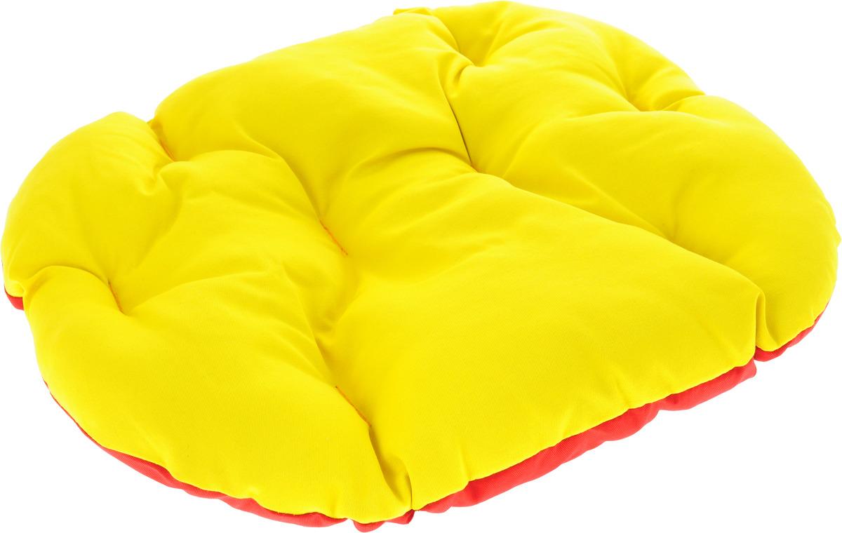 Лежак для животных ЗооМарк Перина Грета №1, ЛГ-1СК, желтый, красный, 50 х 40 х 8 см лежак для животных зоомарк перина грета 4 лг 4кж синий желтый 80 х 58 х 9 см