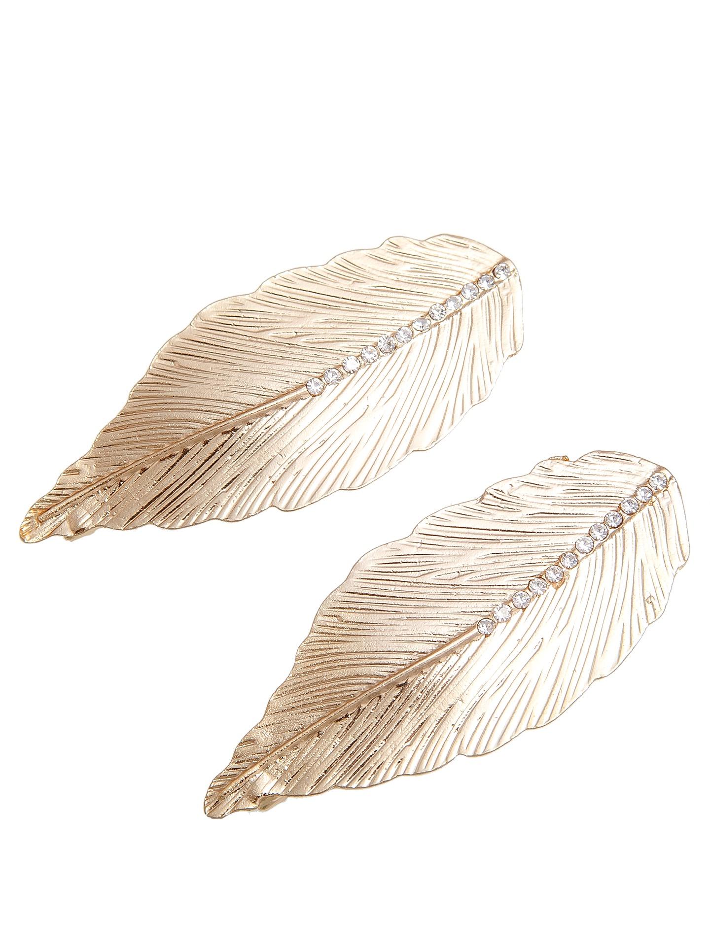 Зажим для волос Kameo-bis зажим для шарфа платка кобра бижутерный сплав стразы