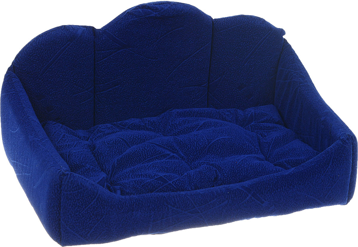 Лежак для собак ЗооМарк Диван, ДВ-1Син, синий, 30 х 45 х 25 см