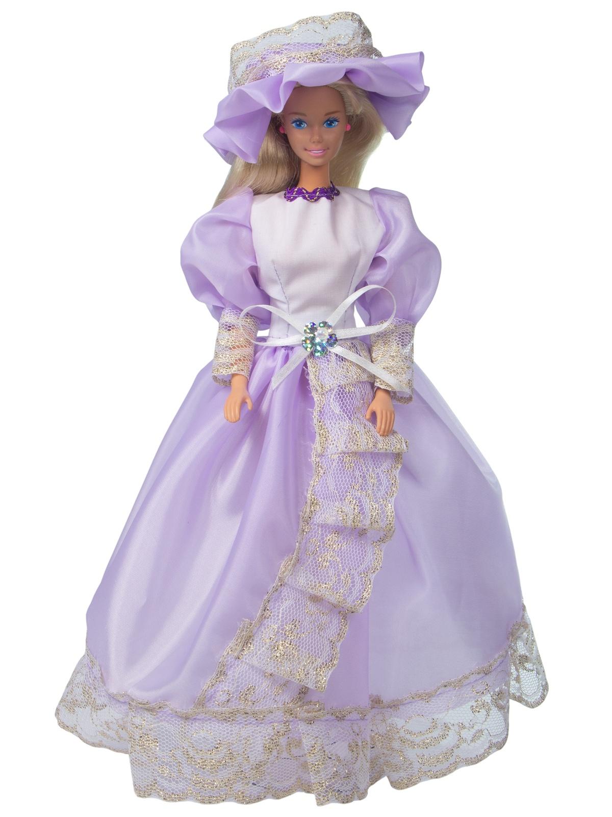Одежда для кукол Модница Бальное платье для куклы 29 см сиреневый