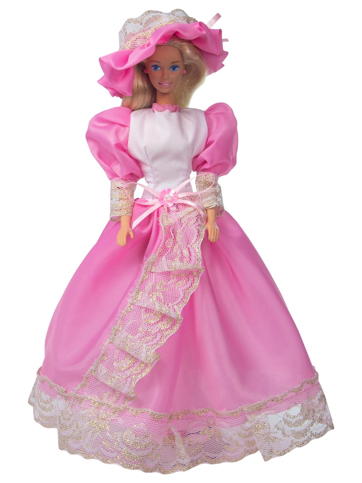 Одежда для кукол Модница Бальное платье для куклы 29 см розовый, белый
