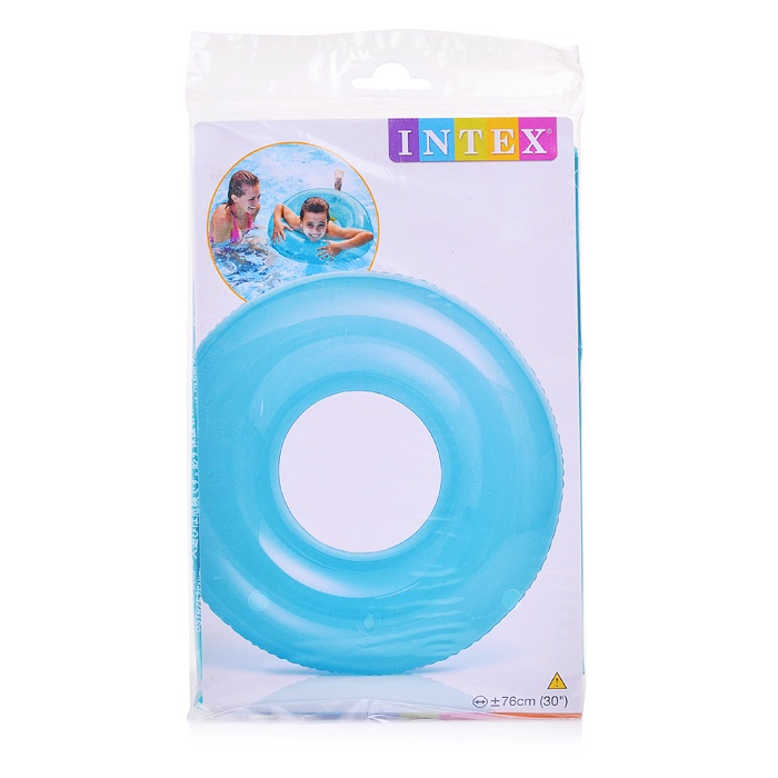 Матрас надувной для плавания Intex 59260, голубой недорого