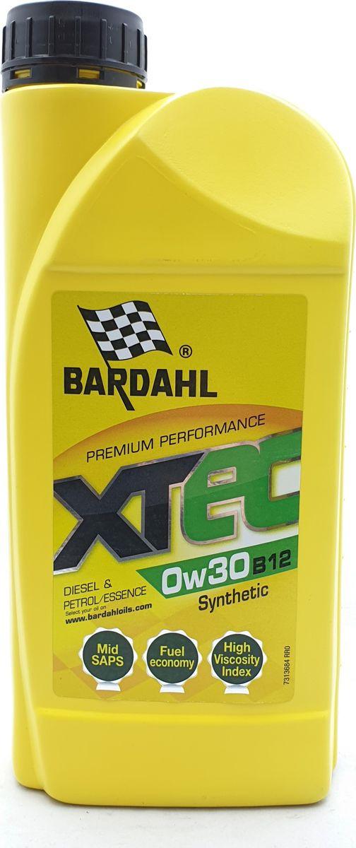 Моторное масло Bardahl XTEC, синтетическое, 0W-30 B12, 1 л
