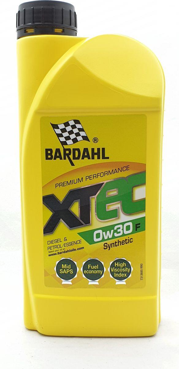 Моторное масло Bardahl XTEC, синтетическое, 0W-30 F, 1 л
