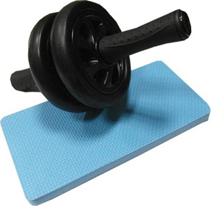 Ролик гимнастический Sprinter, 07556, двойной, с ковриком, серый гимнастический коврик c дугами sh 303350