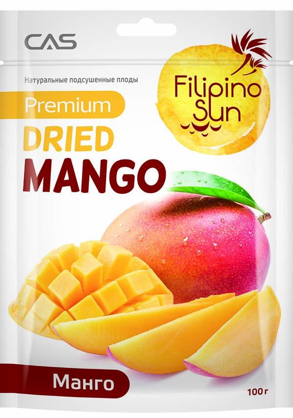 Сухофрукты Filipino Sun Плоды манго сушеные 4809012888905 Filipino Sun