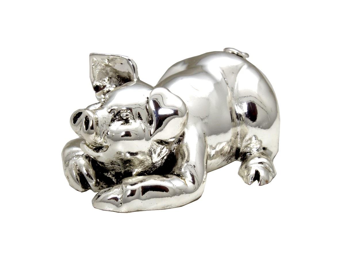 Статуэтка Exetera argenti Свинка, 46-244804, серебристый цена