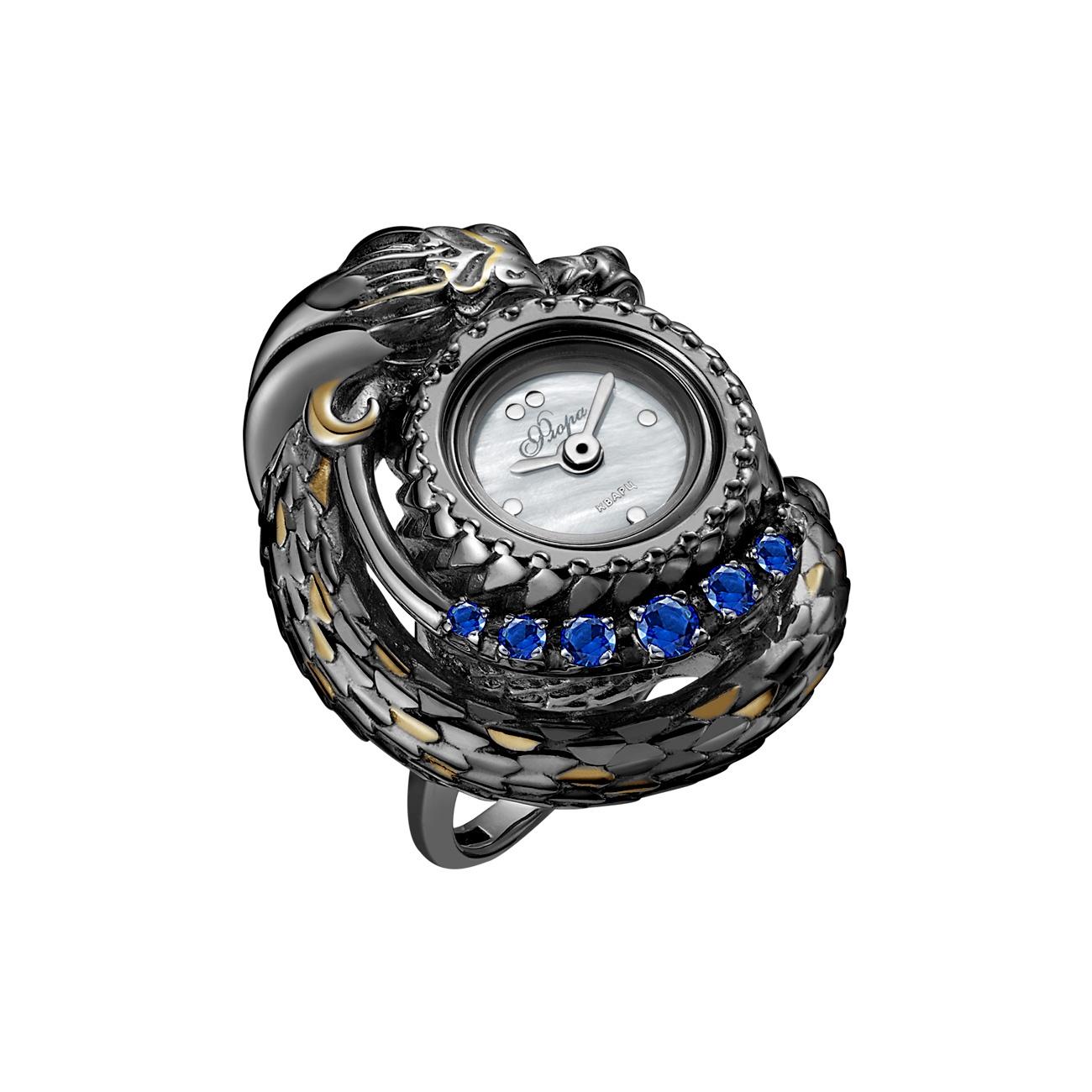 Кольцо бижутерное Mikhail Moskvin 1265S2-K1 Дракон, Серебро, Фианит, 18,5 будильник кварцевый mikhail moskvin цвет синий 2815 2