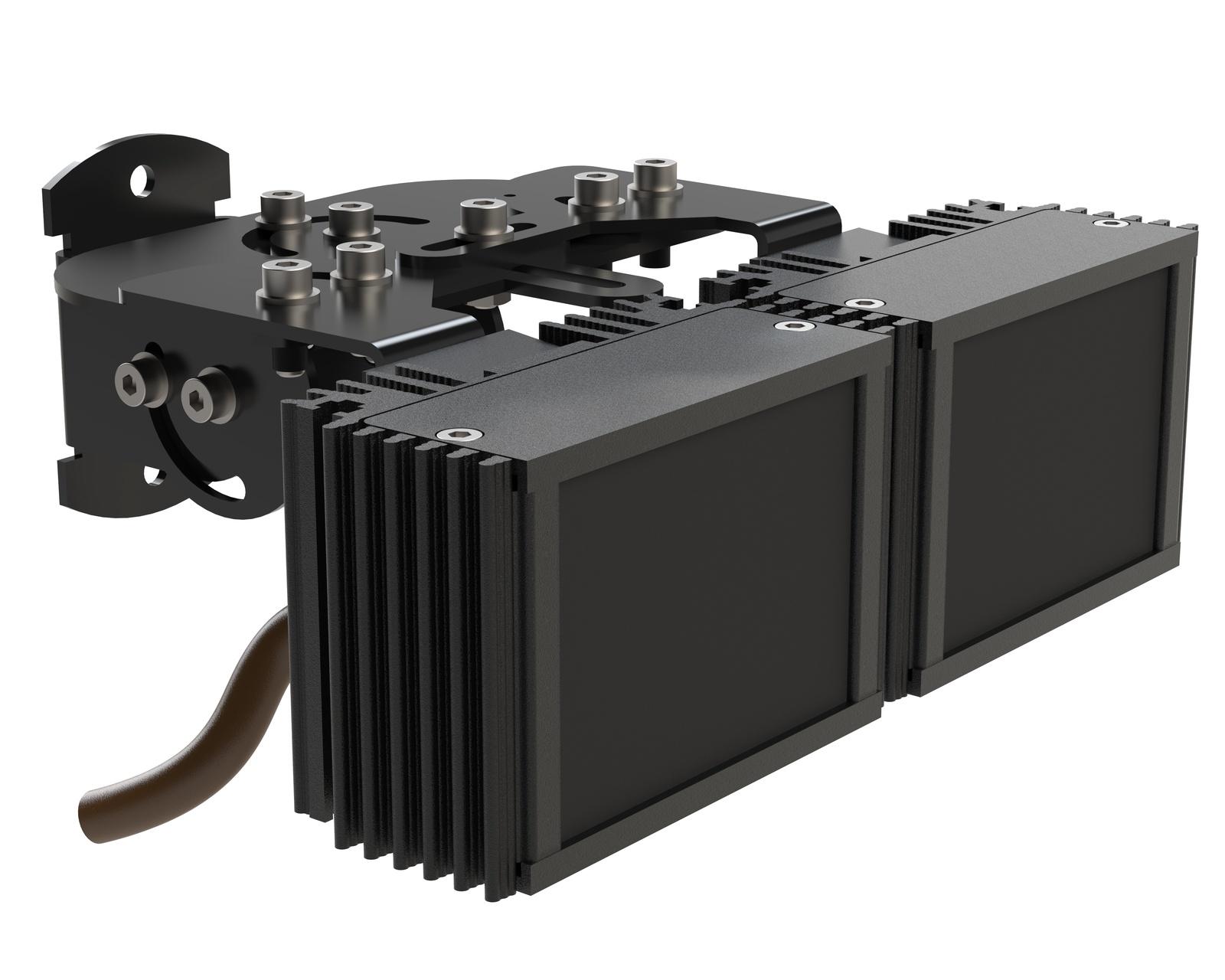 Инфракрасный прожектор Microlight IR VARIO S 2.8-12/20 с регулировкой угла для камеры с объективом 2,8-12 мм. Дальность до 50 метров ночного видения Уличный IP67