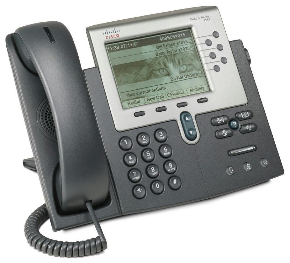 Телефон Cisco CP-7962G, черно-серый
