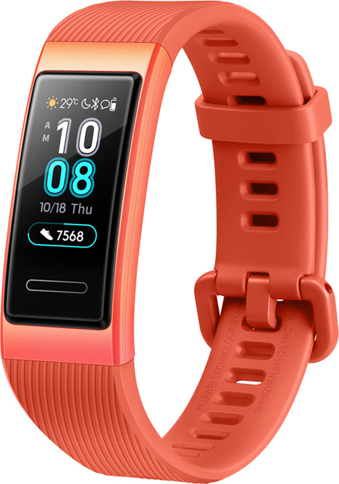 Фитнес-браслет Huawei Band 3, оранжевый фитнес браслет huawei band 3 pro черный