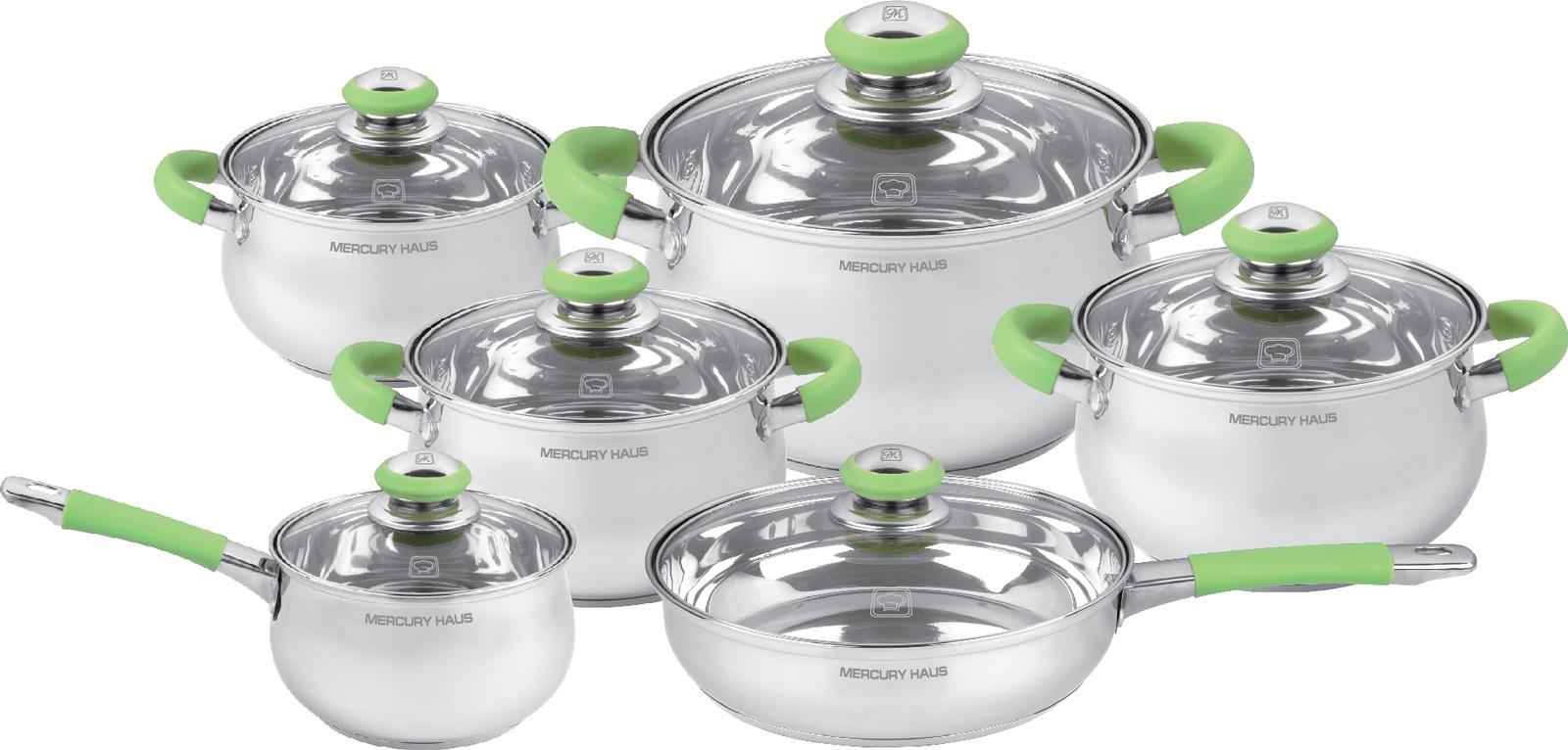 Комплект посуды для приготовления Mercury Haus MC - 7023, светло-серый