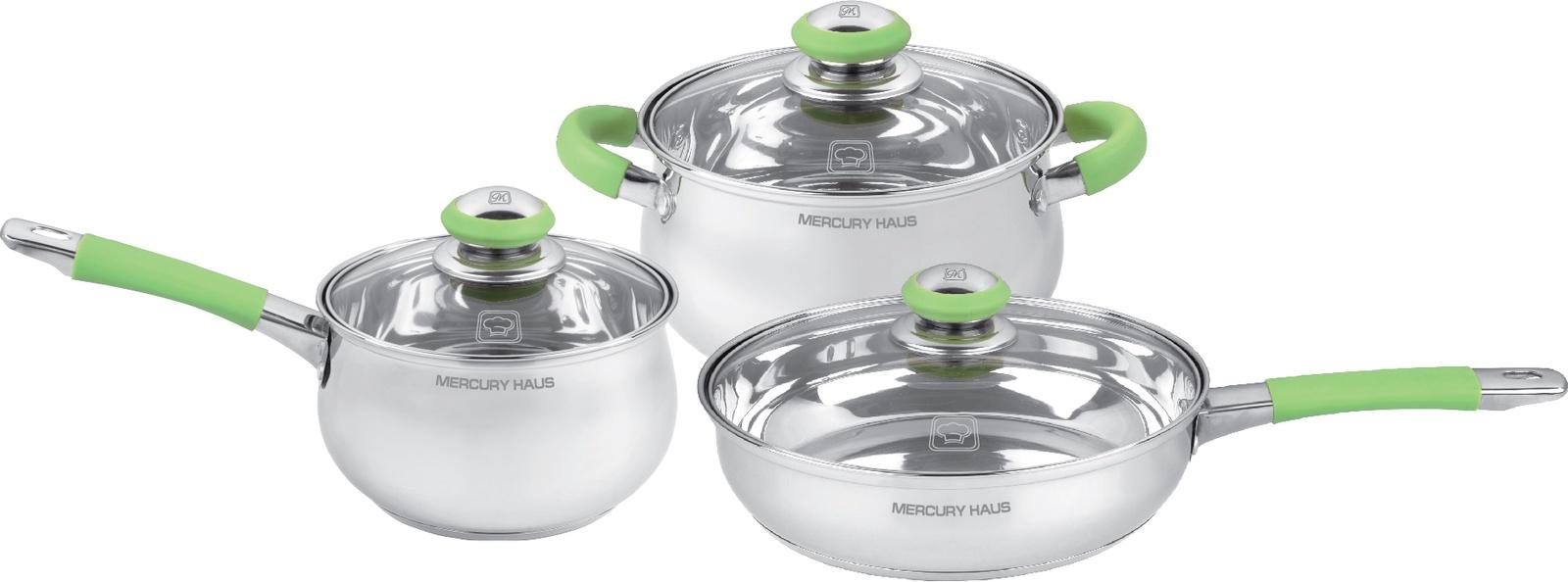 Набор посуды для приготовления Mercury Haus MC - 7022, серебристый