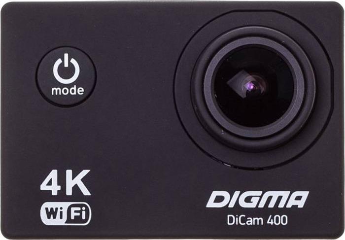 Экшн-камера Digma DiCam 400, черный цена и фото