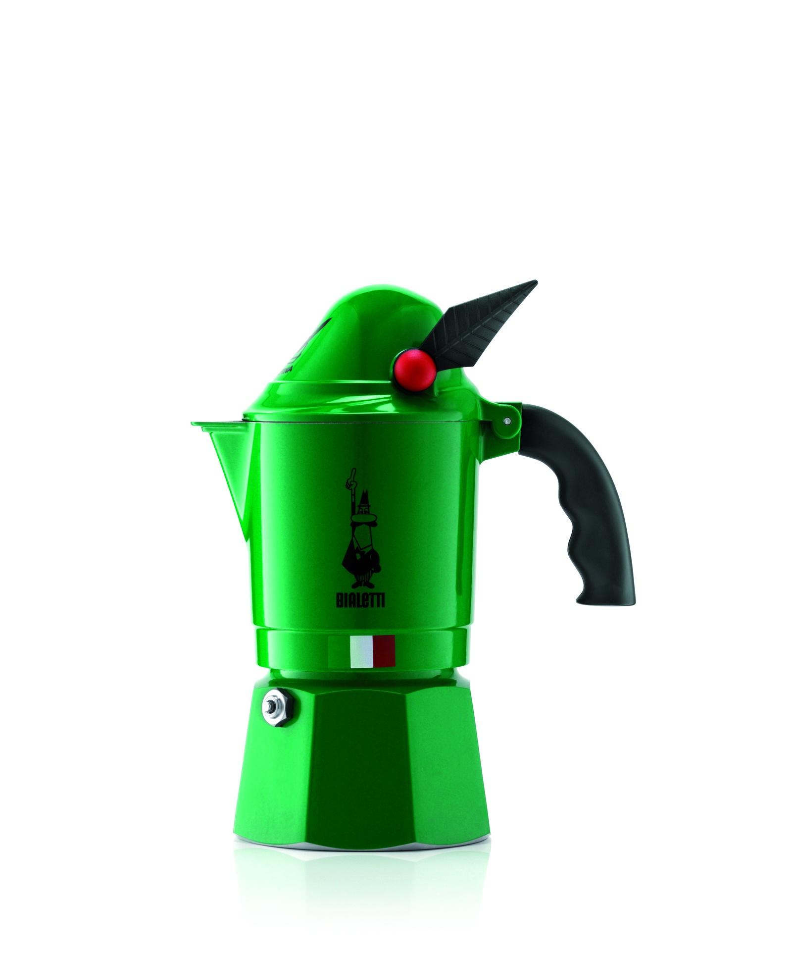 Гейзерная кофеварка Bialetti Alpina, зеленый кофеварка гейзерная bialetti moka induzione 3 порции сталь 4922