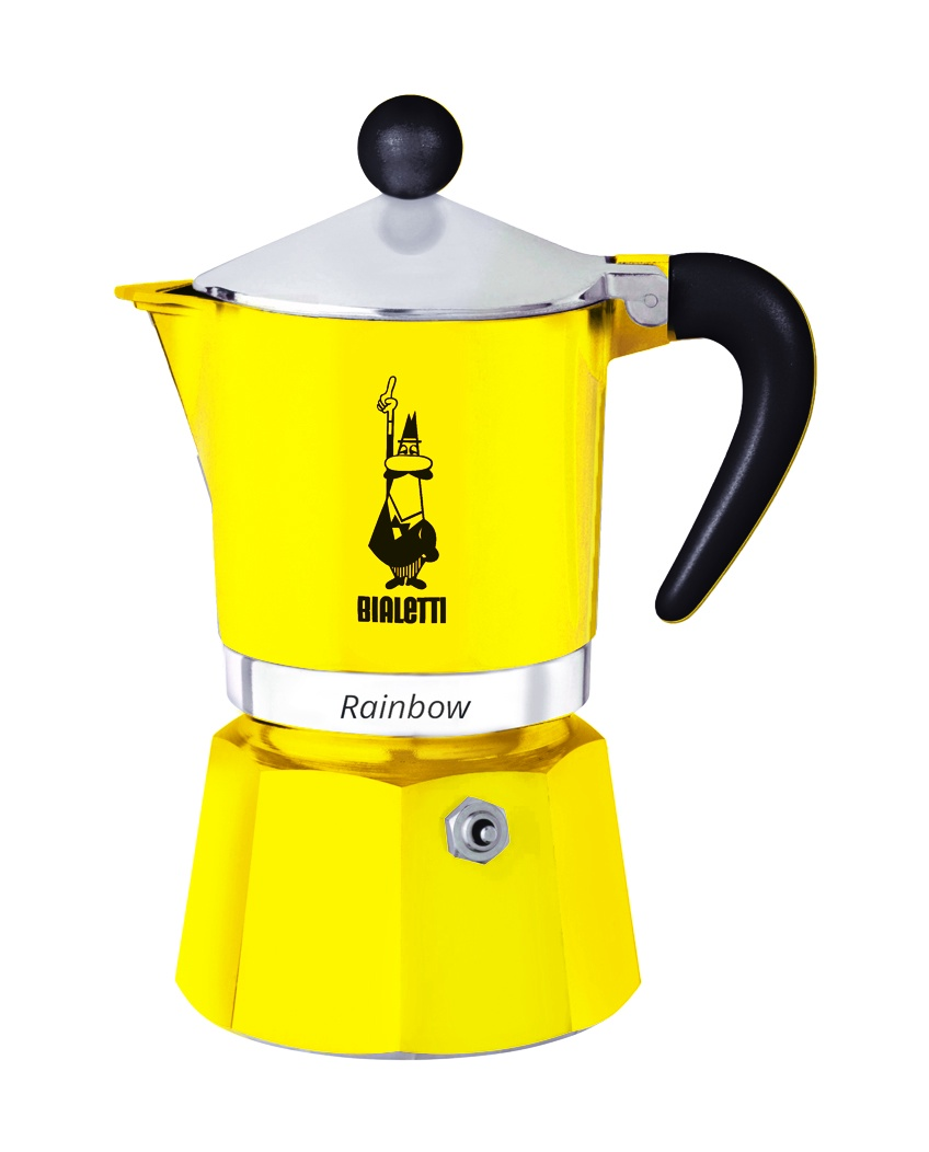 цена на Кофеварка гейзерная Bialetti Rainbow, желтый , на 6 чашек