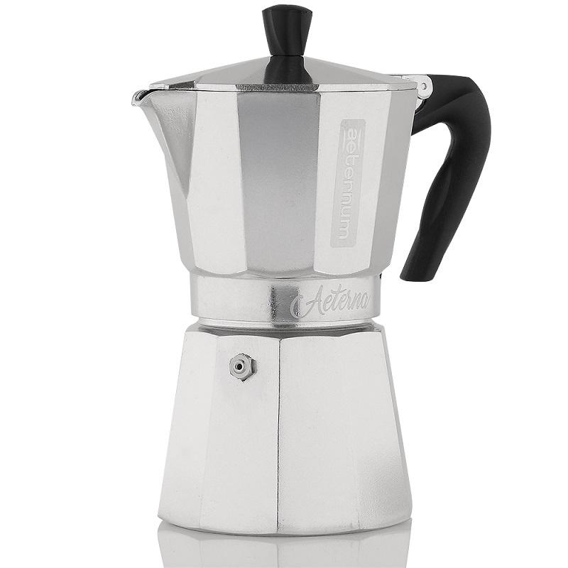 Гейзерная кофеварка Bialetti Aeternum Aeterna, на 6 чашек, Алюминий кофеварка гейзерная bialetti aeternum elegance 6 порций алюминий 6008
