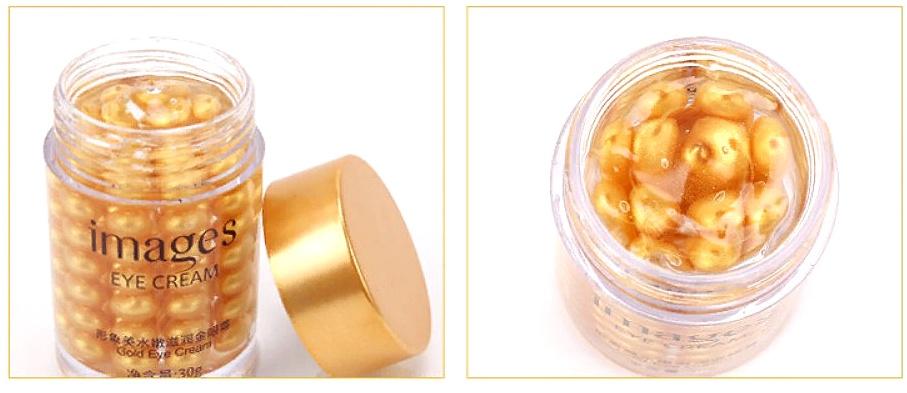 Крем-сыворотка IMAGES с золотыми шариками для кожи вокруг глаз, против мимических морщин IMAGES