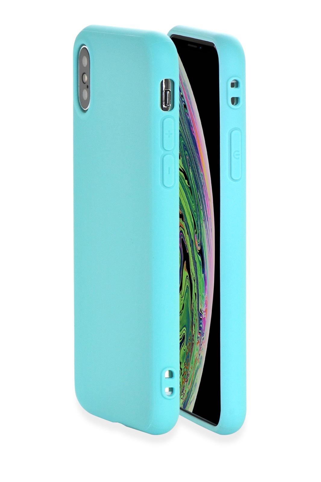 "Чехол накладка Gurdini Soft Lux силикон (8) для Apple iPhone X/XS 5.8"",906604,бирюзовый"