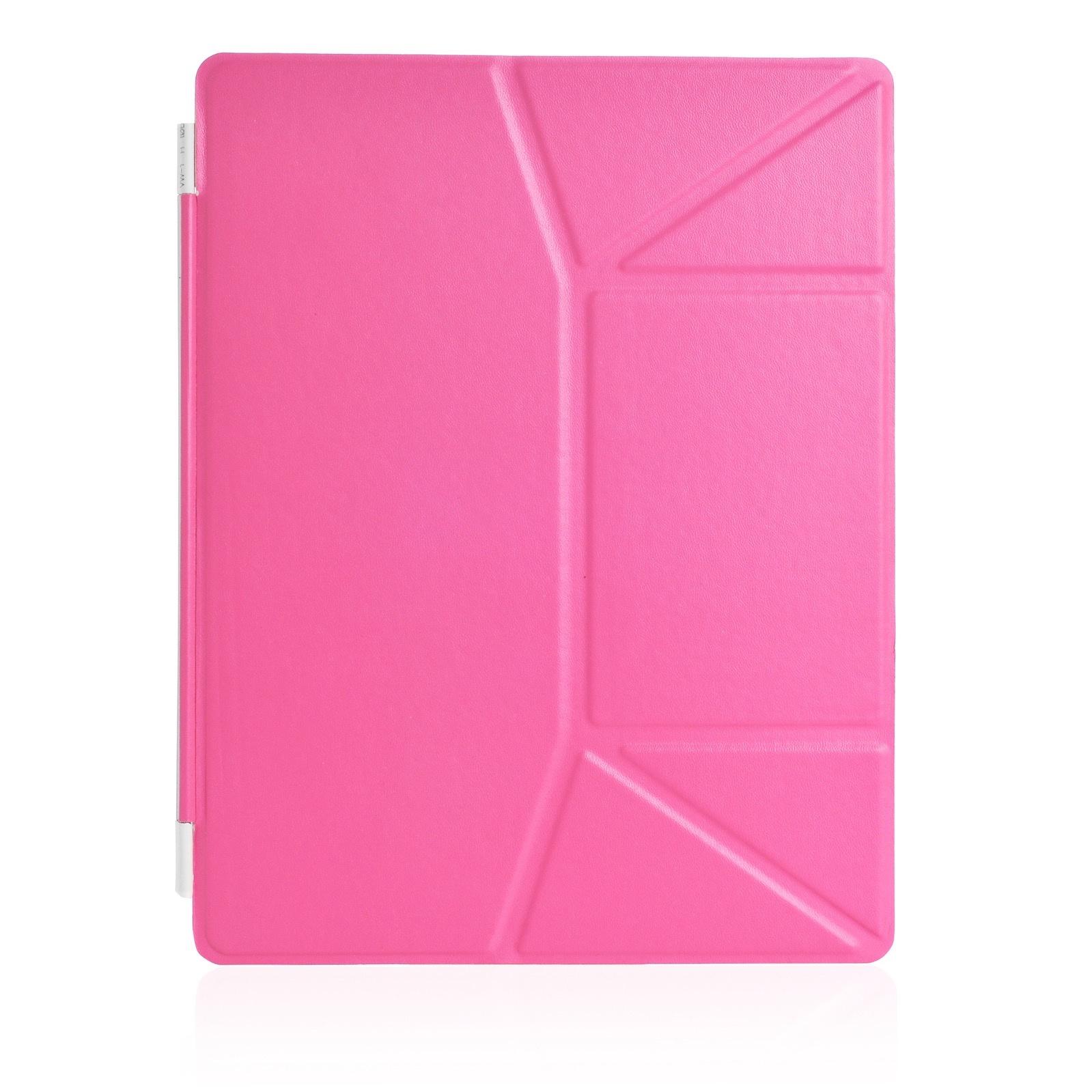 Чехол для планшета iNeez Smart эко кожа обложка 370075 для Apple iPad 2/3/4, розовый
