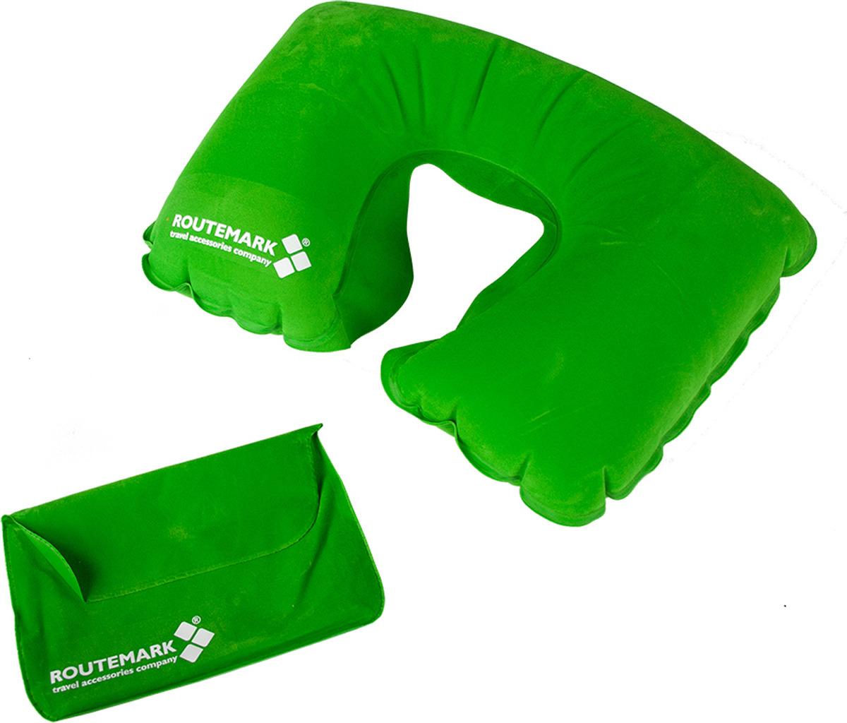 Подушка для путешествий надувная Routemark SAM , цвет: салатовый