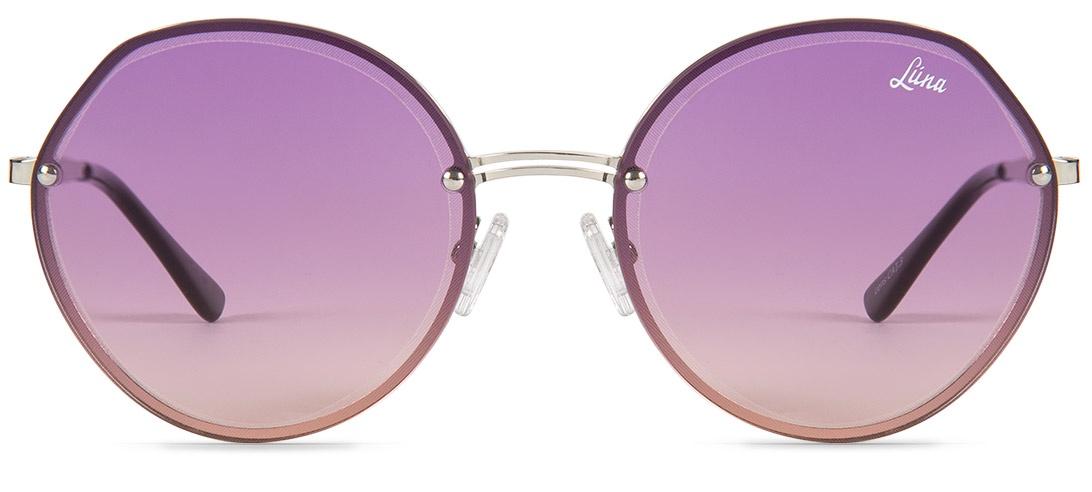 цена на Очки солнцезащитные Luna Admire Purple Круглые фиолетовый женские, фиолетовый