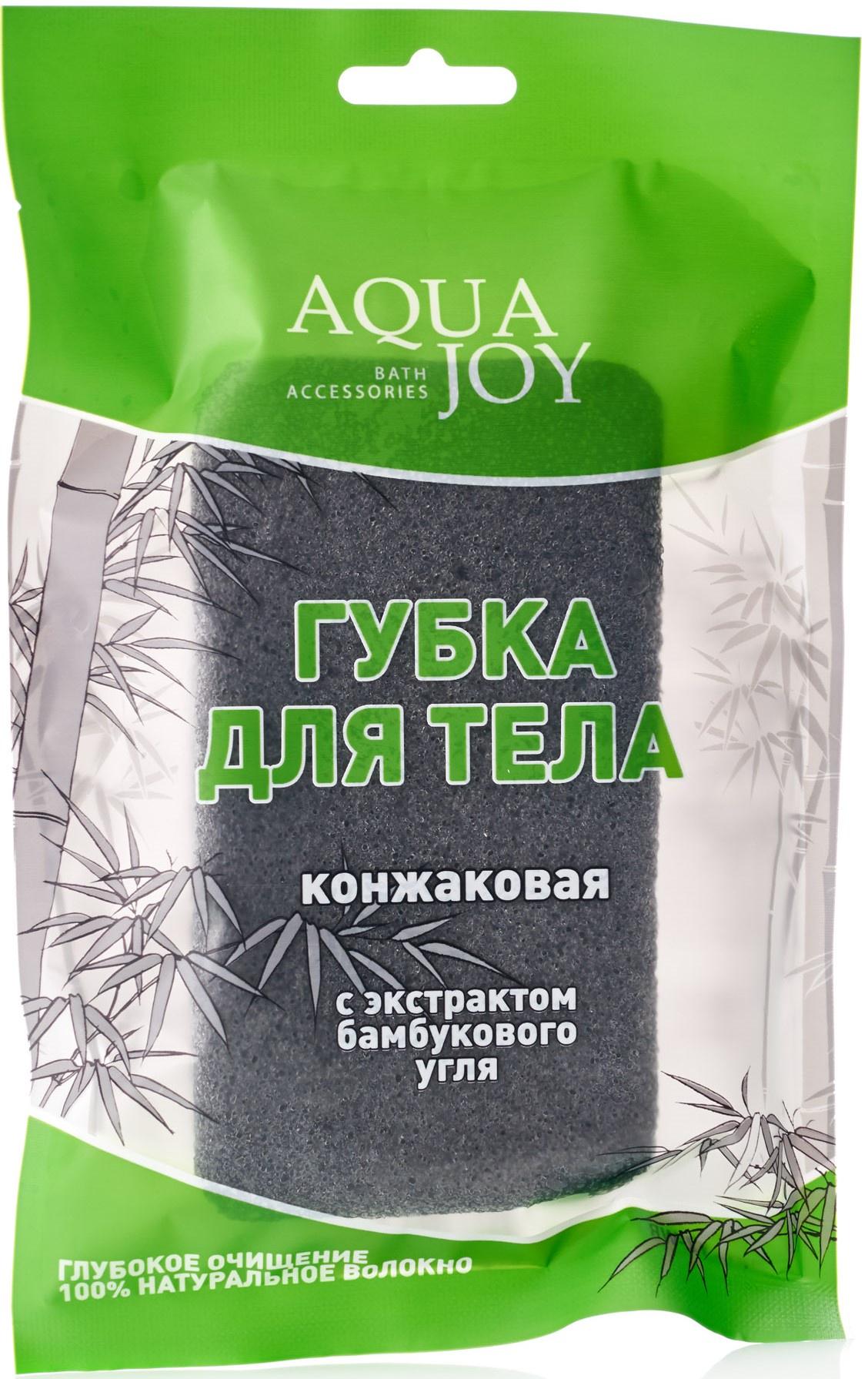 Косметическая губка Aqua Joy Прямоугольная конжак отсутствует целебные растения