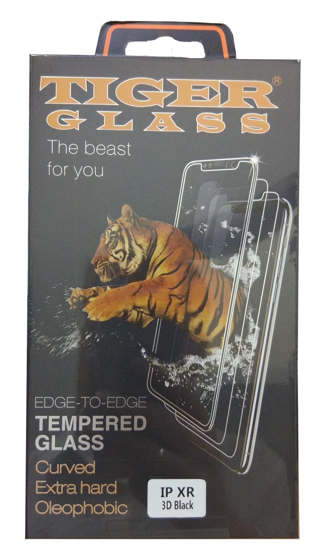 Защитное стекло iPhone XR 6.1 (3D Tiger Glass черная рамка), черный защитное стекло interstep 3d glass для samsung galaxy s8 черная рамка